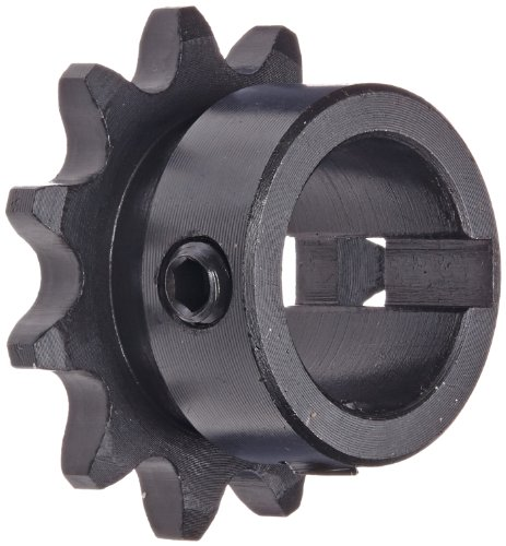 Tsubaki 35B11FL Finished Bore Sprocket, Single Strand, Hardened Teeth, Inch, #35 ANSI No., 3/8