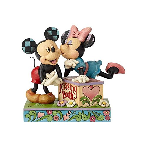 Disney Traditions by Jim Shore 6000970 Mickey & Minnie Kissing Booth Figurine (Shore Disney Jim Plant)