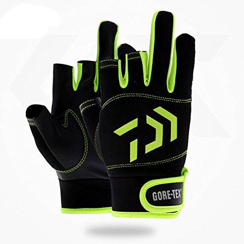 ANLIN Outdoor Atmungsaktive Angelhandschuhe 3 Finger Schnitt Wasserdicht Sport Handschuhe