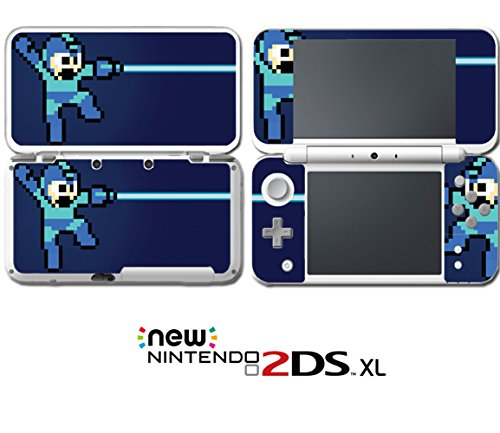 Mega Man Rockman Megaman Rock Retro Pixel Video Game Vinyl Decal Skin Sticker Cover for Nintendo New 2DS XL System Console