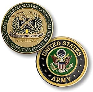 U.S. Army Ft. Lee, VA Quartermaster Corps Challenge Coin from Armed Forces Depot