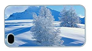 Hipster designer iPhone 4S cases Snow Landscape PC White for Apple iPhone 4/4S