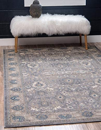 Unique Loom Salzburg Collection Traditional Oriental Gray Area Rug 5 0 x 8 0
