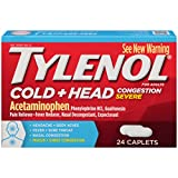 Tylenol Cold Congestion Caplets, 24 Count (Pack of 48)