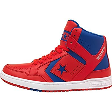 0a9e8ca315d0 Mens Converse Cons Weapons Mid Red Blue White Guys Gents  Amazon.co.uk   Shoes   Bags