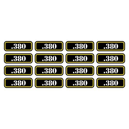 (16x) .380 Ammo Can Sticker Set Decal Self Adhesive molon labe bullet 380 FA Graphix