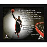 LeBron James Miami Heat (Dunking) Framed 11x14 'Pro Quote'