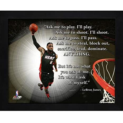 8e904947 Amazon.com : LeBron James Miami Heat (Dunking) Framed 11x14