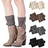 My Decor 4 Pairs Women Boot Cuffs Crochet Knitted Boots Socks Short Leg Warmers, Style 01
