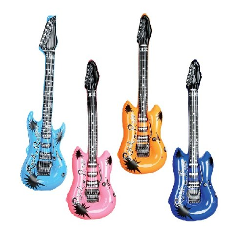 Rhode Island Novelty (Pack of 12) Inflatable Rock Star Electric Guitar