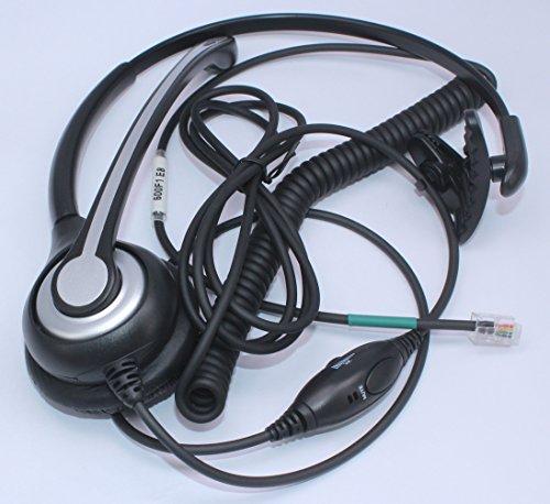 Wantek Corded Telephone Headset Mono w/ Noise Canceling Mic for ShoreTel Plantronics Polycom Zultys Toshiba NEC Aspire Dterm Nortel Norstar Meridian Siemens ROLM Packet8 Landline Deskphones(F600S2)