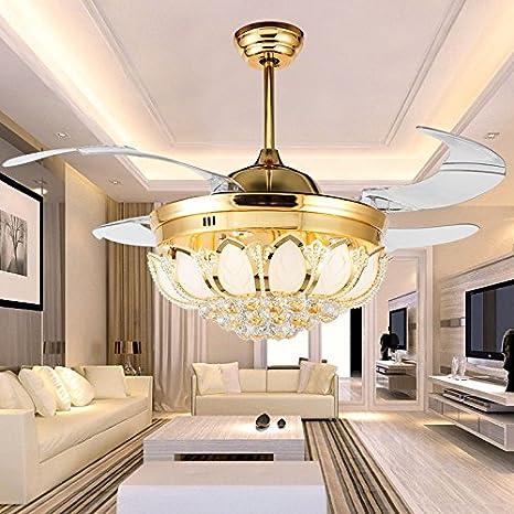 Lámpara LED de ventilador, ventilador de techo, invisible ...
