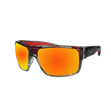 4b6611fa15 Amazon.com  Bomber Sunglasses - Mana Bomb 2 Tn Crystal Smk Frm   Red Mirror  Pc Safety Lens   Red Foam  Sports   Outdoors