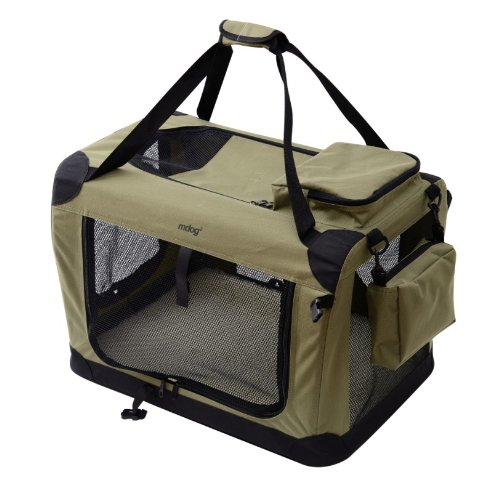 Cheap MDOG2 Portable Soft Crate, 40 by 27 by 27-Inch, XX-Large, Sage Green