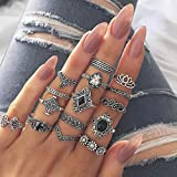 Queind Women Fashion Geometric Finger Rings Set Party Jewelry Gift Jewelry Sets