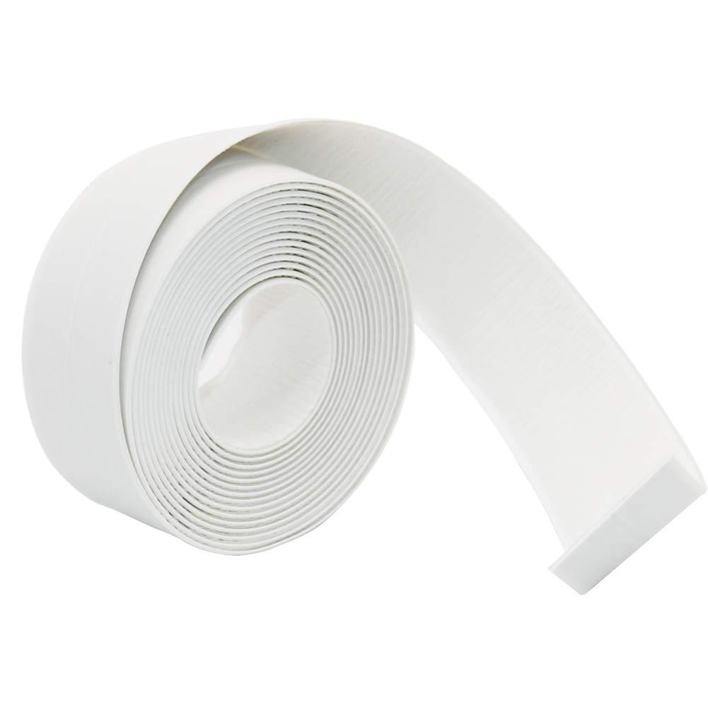 Bathtub Caulk Strip Sealant Tape PE Updated Not PVC Strong Self Adhesive Wall Sealing Tape Waterproof Caulk Sealer for Windows Bathroom Kitchen Sink 38mmx3.35m White PHIMIITA
