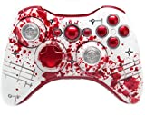 ''Blood Splatter Extreme'' Xbox 360 Rapid Fire Modded Controller 35 Mode for COD Ghosts Black Ops 2 Cod Mw3 Drop Shot Jump Shot Jitter