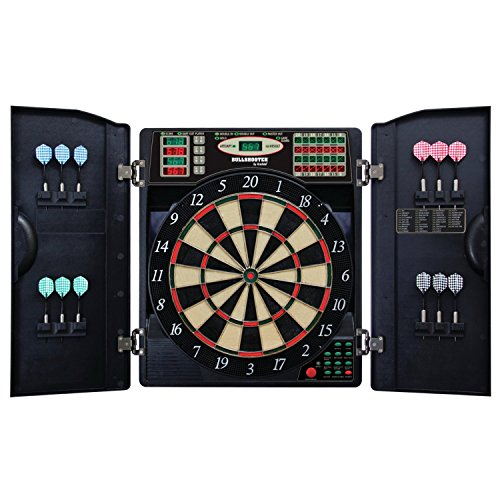 Best Selling Most Popular Home Playroom Bar Authentic Multi Player Pro Model Electronic Bulls-Eye Digital LED Dart Board- Full Lit Display- 38 Games 200+ Variations- 2 Set of Soft Tip/Steel Tip Darts by Bull-Shot