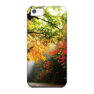 Defender Cases With Nice Appearance (lighted Forest Path) For Iphone 5c