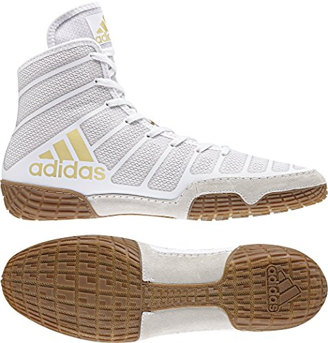 Wrestling adidas Gum Wrestling White Men's Shoes Vegas XIV Performance Adizero HxzXqrZx