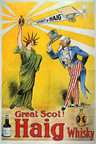 Used, LIBERTY STATUE UNCLE SAM GREAT SCOT HAIG WHISKY LARGE for sale  Delivered anywhere in Canada