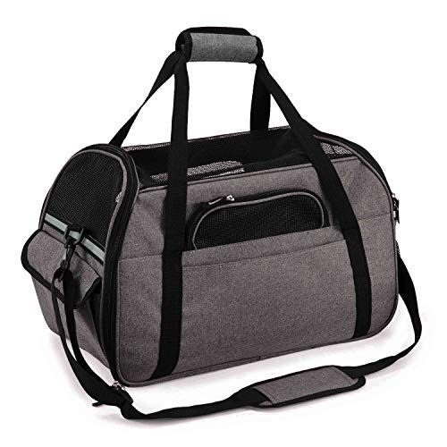 Pettom Soft-Sided Pet Carrier for Dogs Cats Travel Bag Tote