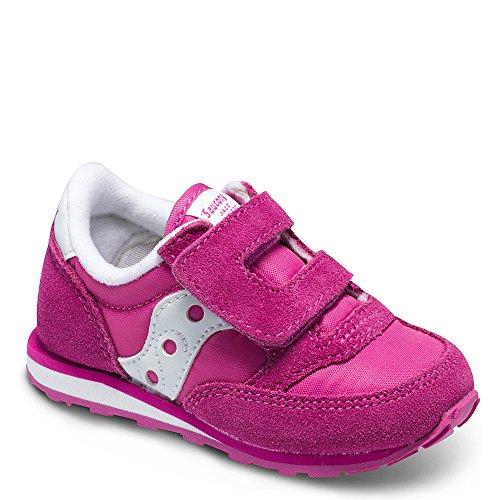 Saucony Kid's Baby Jazz H&L-K Sneaker, Pink, 5 Wide US Toddler -