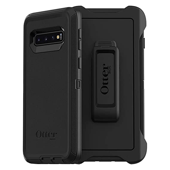 673b1c7fad8 OtterBox DEFENDER SERIES Case for Galaxy S10 - Retail Packaging - BLACK