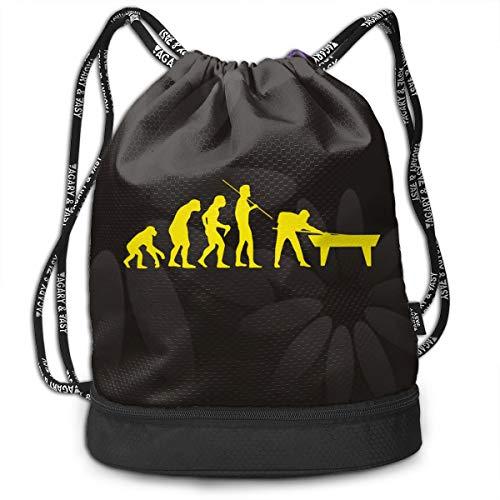 (Drawstring Backpack Evolution Billiards Bags)