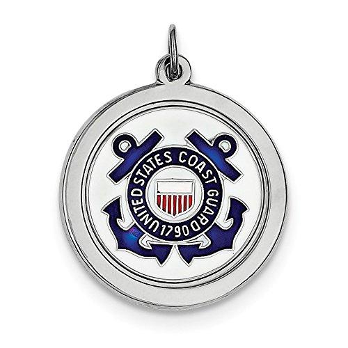 Sterling Silver Us Coast Guard - Disc Coast Guard Us