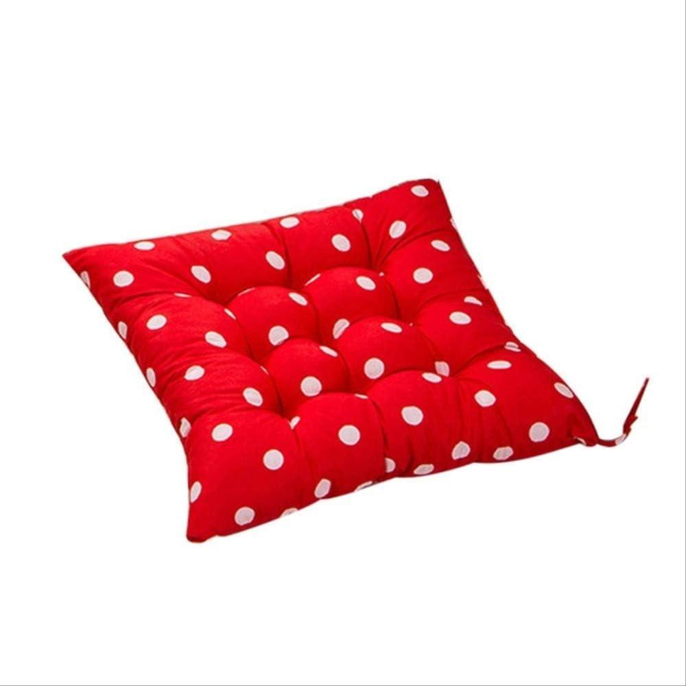 AINIYUE Cojines para sillas al Aire Libre, cojín Duradero para Silla de Lunares, Asiento de Oficina para jardín, Asiento para Oficina, Almohadilla Suave, 2 Piezas, 40x40 cm, Rojo