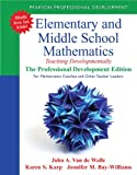 Elementary and Middle School Mathematics 1st Edition