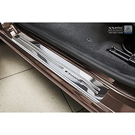 Autostyle 2/06010 INOX - Protector para umbral de Puerta, Color Plateado: Amazon.es: Coche y moto