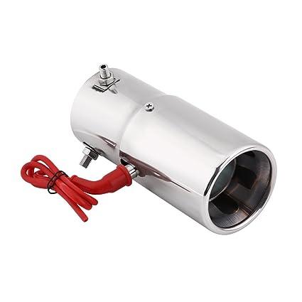 30-60mm Universal Acero Inoxidable Coche LED Cola Tubo de ...