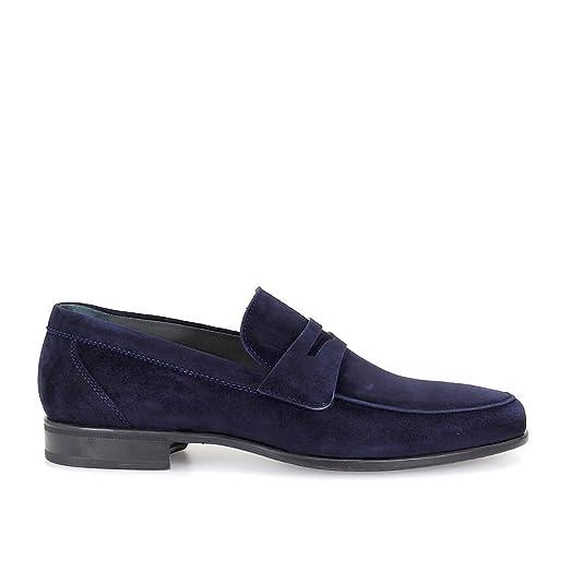 Graz Blue Suede Loafer