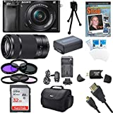 Cheap Sony Alpha a6000 24.3MP Interchangeable Lens Camera Bundle with Compact Deluxe Gadget Bag and 16-50mm Power Zoom Lens (19 Items)