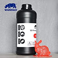 Wanhao 3D-Printer UV Resin - 1000 ml - Red by Wanhao