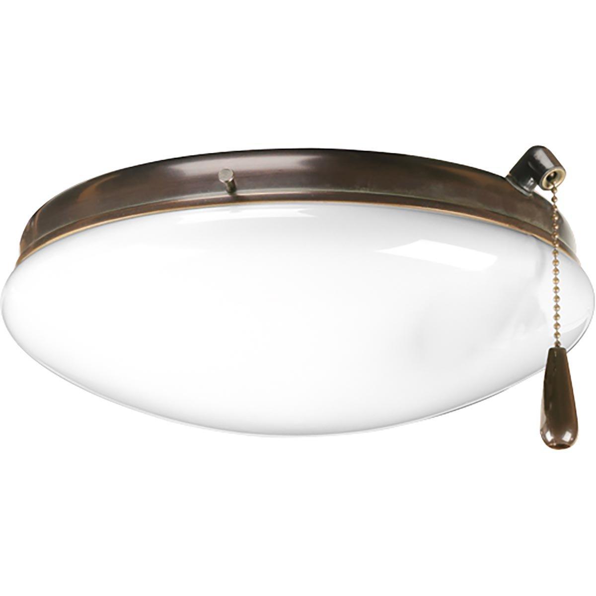 Progress Lighting P2611-20WB Fan Light Kit, Antique Bronze