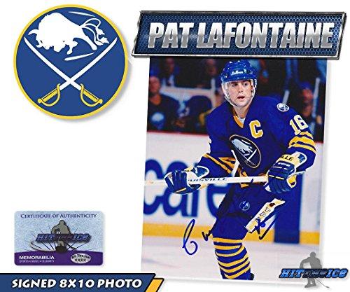 PAT LAFONTAINE Signed BUFFALO SABRES 8x10 PHOTO w/COA -