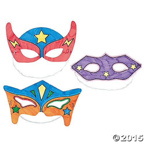 Color-Your-Own Superhero Masks