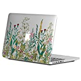 GMYLE Ultra-Slim Light Scratch Guard Clear Case with Garden Flower Pattern for Old MacBook Pro 13 inch with Retina Display (Model: A1425 and A1502) without CD-ROM Drive [2012-2015 Release]