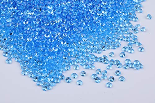 10000 pcs/pack Wedding Table Scatter Confetti Crystals Acrylic Diamonds Vase Fillers 4.5 mm Rhinestones for Wedding, Bridal Shower, Vase Beads Decorations (light blue)