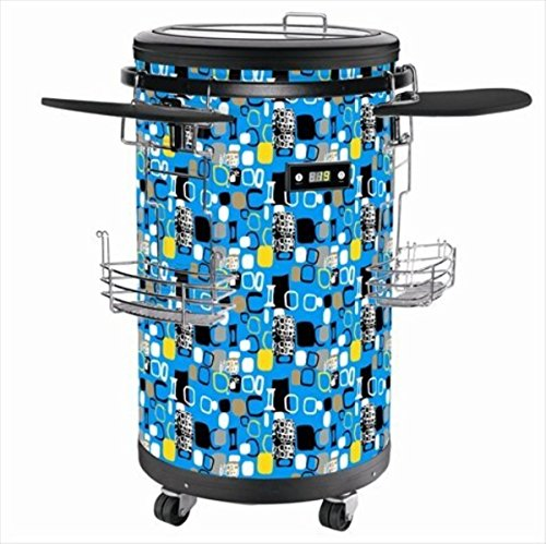 Equator PC 50 EB Party Cooler Blue, 1.77 Cu.Ft. Capacity, Manual Defrosting, Adjustable Leg, Top Reversible Door, Rounded Door Design, Flush Back Design, Chiller Compartment, Electronic Temperature Control