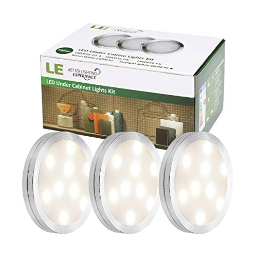 le led under cabinet lighting kit 510lm puck lights 3000k warm white all accessories. Black Bedroom Furniture Sets. Home Design Ideas