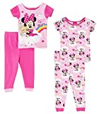 Disney Minnie Mouse Sweet Dreams Girls 4 Piece Pajama Set, Toddlers Size 4T