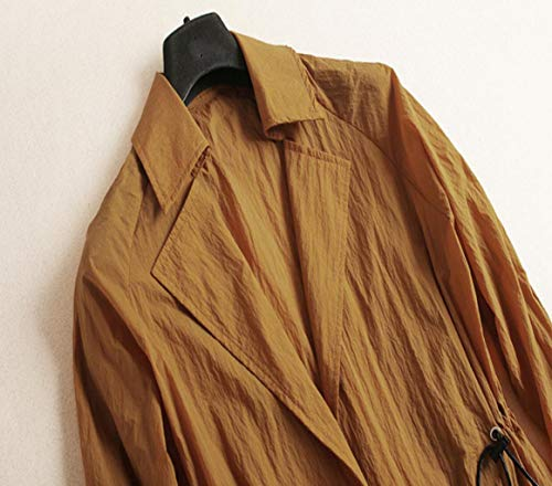 Taille Thin Couleur Manches Fashion L Et Automne Longue Lanterne Printemps Longues Jacket Women couleur Unie Jaune Lace Coupe vent Rnx4TCqgw