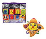 Mozlly Value Pack - Small World Toys IQ Baby Knock Knock Soft Building Blocks (16pc Set) and Neurosmith Sunshine Symphony - Classical Music - Sparkling Lights - Lullaby Mode - Toddler Toys (2 Items)