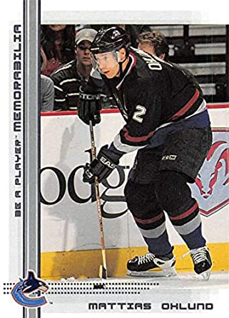 2000-01 Be A Player Memorablia Hockey  329 Mattias Ohlund Vancouver Canucks  Official Trading f64e1af60