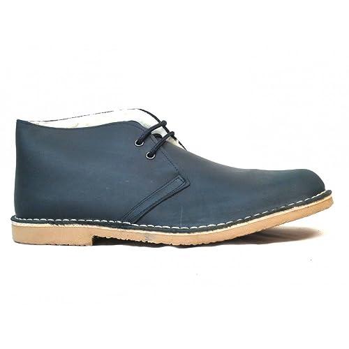 37a30530b Botas Safari Pull Marino Borreguito  Amazon.es  Zapatos y complementos
