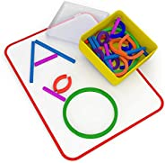 Osmo - Little Genius Sticks & Rings - 2 Games - ABCs & Squiggle Magic - Ages 3-5 - Imagination, Letter
